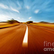 Super Speed Road Art Print