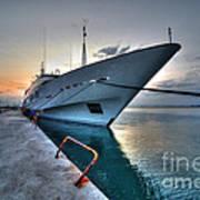 Super Yacht At Nafplion  Art Print
