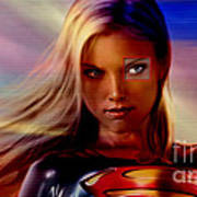 Supergirl Print by Marvin Blaine