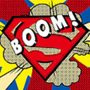 Superman Boom  Art Print