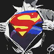 Superman Art Print by Erik Pinto