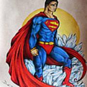 Superman Lives On Art Print