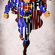 Superman - Man Of Steel Art Print by Ayse Deniz