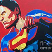 Superman - Red Sky Art Print