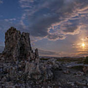 Supermoon At Mono Lake Art Print