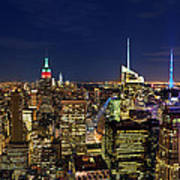 Supermoon Over Manhattan Art Print