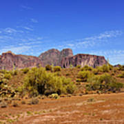 Superstition Mountains Arizona - Flat Iron Peak Print by Christine Till