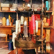 Supplies In Tailor Shop Art Print
