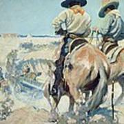 Supply Wagons Art Print by Newell Convers Wyeth