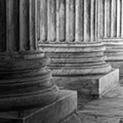Supreme Court Columns Black And White Art Print