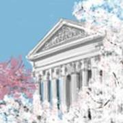 Supreme Court Washington Dc Art Print