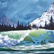 Surf And Snow Art Print