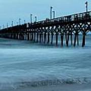 Surf City Pier Soft 2 Art Print