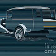 Surf Truck Ocean Blue Art Print