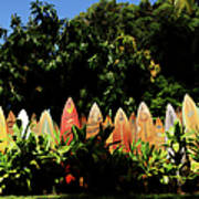 Surfboard Fence - Right Side Art Print