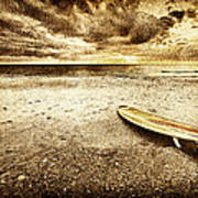 Surfboard On The Beach 2 Art Print
