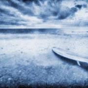 Surfboard On The Beach Art Print