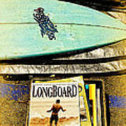 Surfboards And Magazines Art Print by Ron Regalado