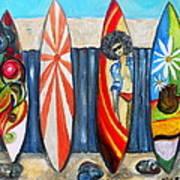 Surfboards Art Print