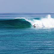 Surfer Surfing A Wave Art Print