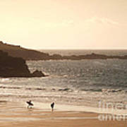Surfers On Beach 03 Art Print