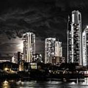 Surfers Paradise By Night Art Print