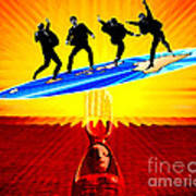 Surfing For Peace Art Print