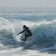 Surfing In The Sun Art Print
