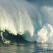Surfing Jaws 1 Art Print