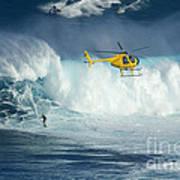 Surfing Jaws 6 Art Print