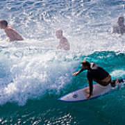 Surfing Maui Art Print