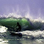 Surfing Pt. Judith Art Print