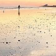 Surfing Sunset Art Print