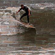 Surfing The Bricks Art Print
