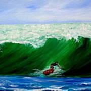 Surf's Up Surfing Wave Ocean Art Print