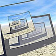 Surreal Monitors Infinite Loop Art Print