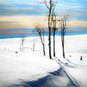 Surreal Snowscape Art Print