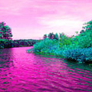 Surrreal Pink Waters Art Print