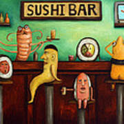 Sushi Bar Improved Image Art Print