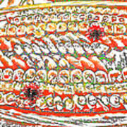 Sushi In Abstract Art Print