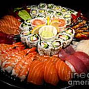 Sushi Party Tray Art Print