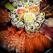 Sushi Tray Art Print