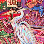 Swamp Boogie Art Print by Robert Ponzio