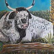 Swamp Bull Art Print by Richard Goohs
