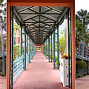 Swan And Dolphin Resort Walt Disney World 3 Panel Composite Art Print
