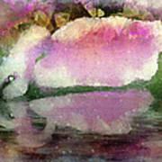 Swan Lake Reflection Art Print by Jill Balsam