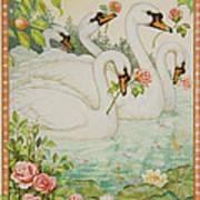 Swan Romance Art Print