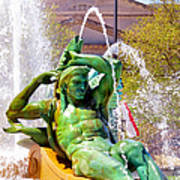 Swann Fountain Gods Art Print