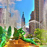 Swann Memorial Fountain - Hdr Art Print