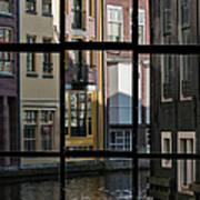 Swans Love Amsterdam Art Print